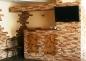 облицовка стен в кухне декоративным камнем
